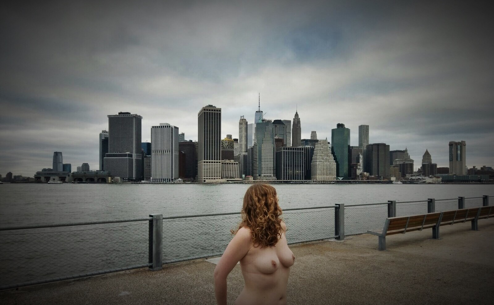 Topless in New York, looking out from Brooklyn Park